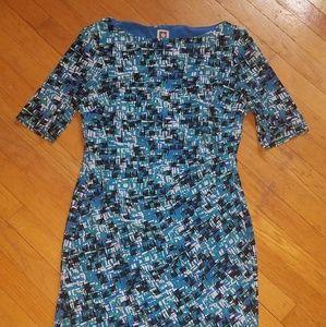 Ann Klein Midi Dress - Shades of Blue